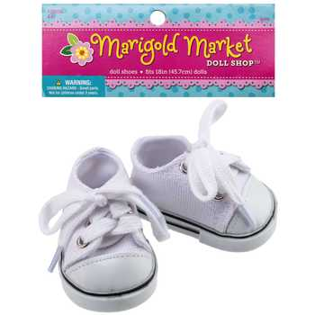 White Canvas Doll Shoes | Hobby Lobby